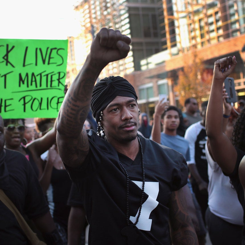 Nick Cannon Protests In St. Louis Wearing Colin Kaepernick Jersey
