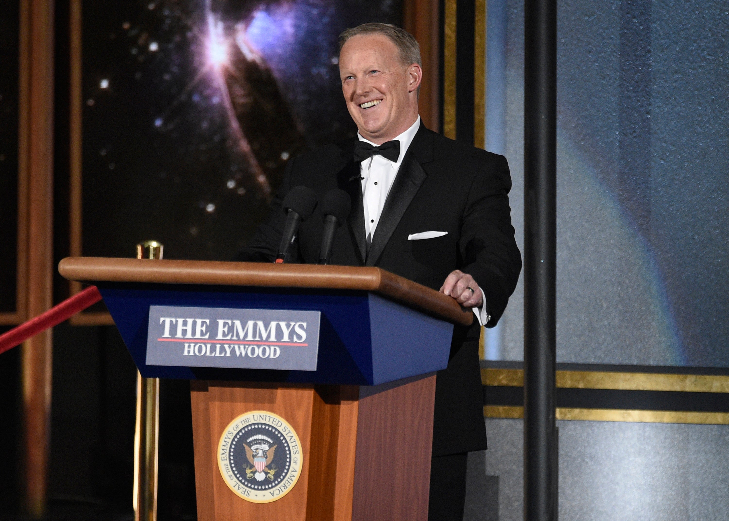 There Was Nothing Funny About Sean Spicer Appearing On The Emmys Stage