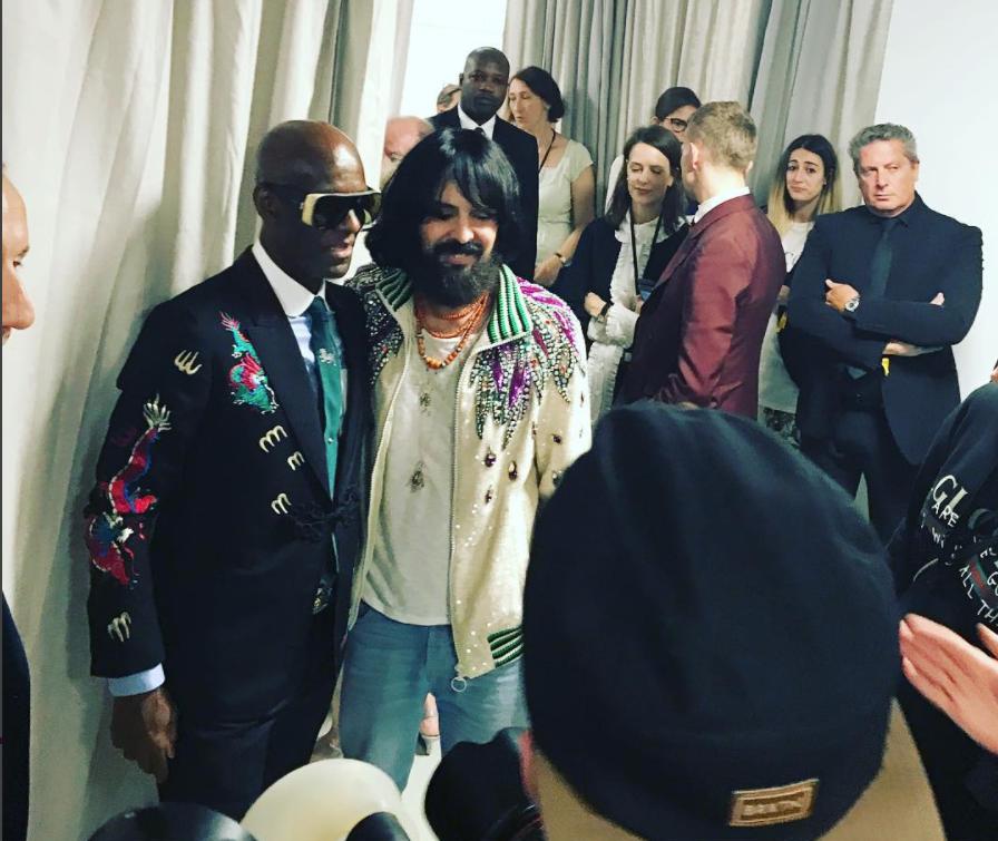 b99e29894f3 Dapper Dan Attends The Gucci Spring 2018 Show During Milan Fashion Week