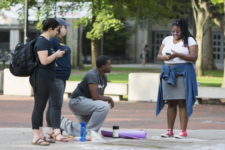 Black College Student Kneels For 20 Hours Straight In Powerful Campus Protest
