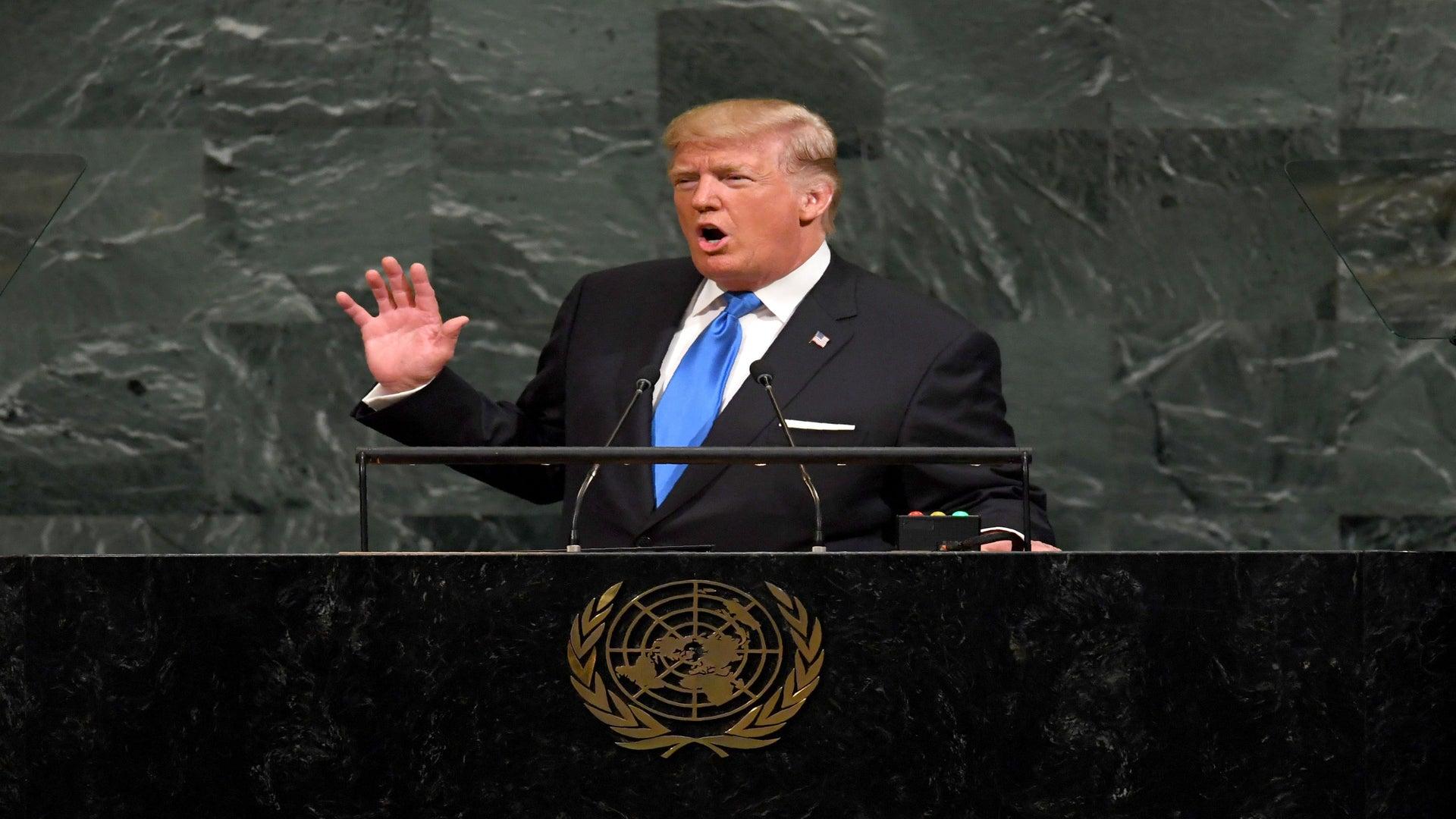 President Trump Threatens To 'Totally Destroy' North Korea In U.N. Speech
