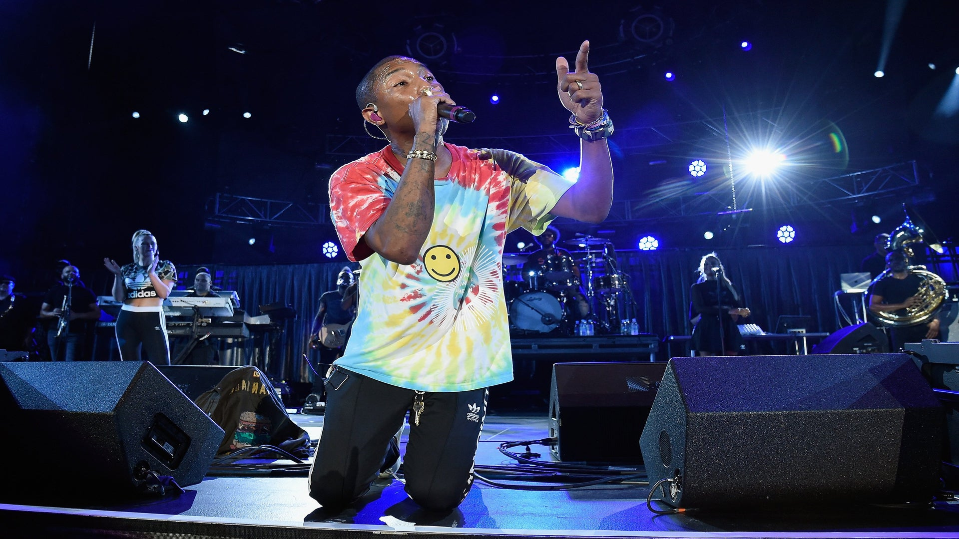 'That's What That Flag Is For.' Pharrell Williams Takes The Knee During Charlottesville Concert