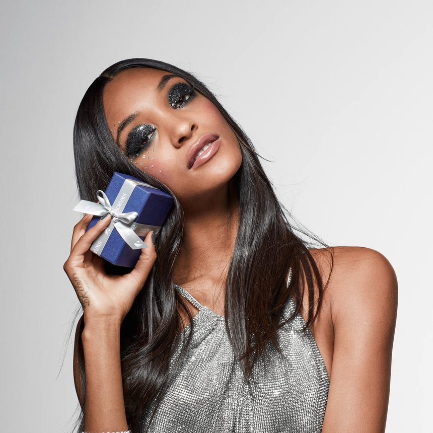 EXCLUSIVE: Model Jourdan Dunn Fronts Swarovski 'Brilliance For All' Campaign And Talks Getting Glam For The Holidays