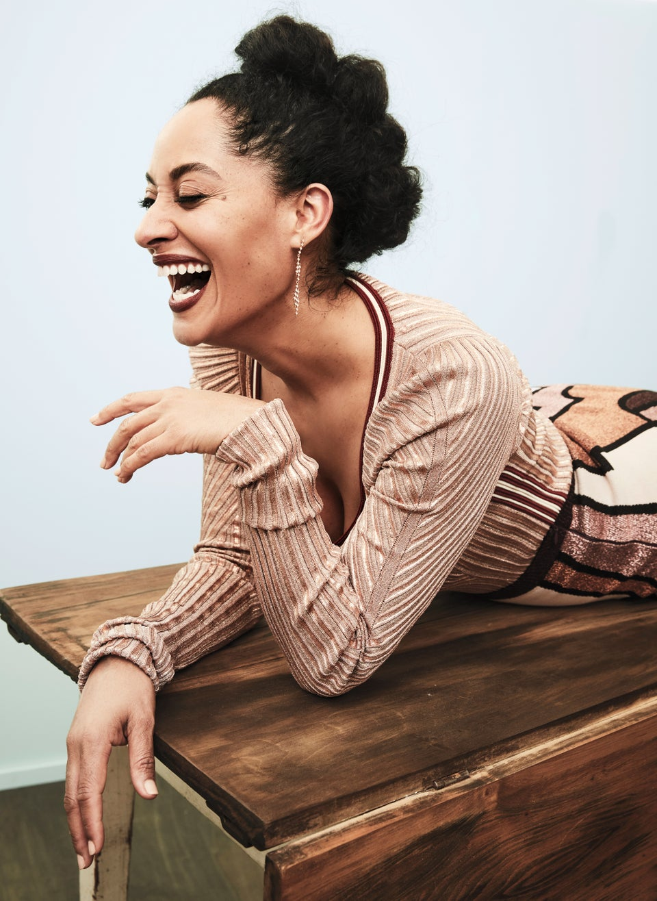 Tracee Ellis Ross Wears Lipstick To The Gym—Here's Why