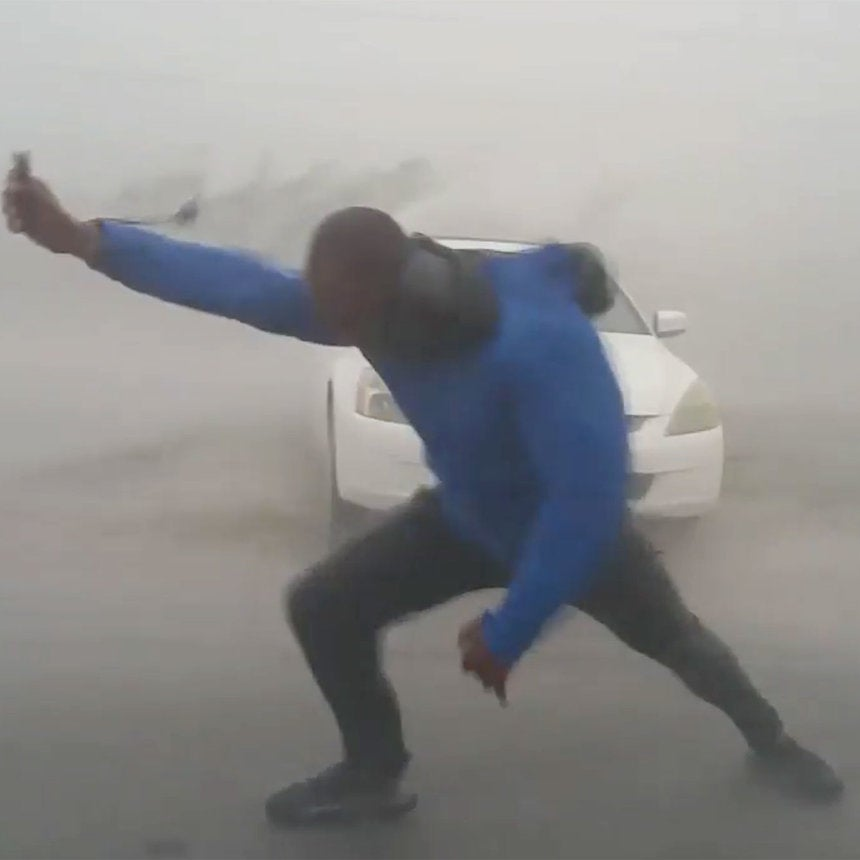 Don't Try This At Home! Video Shows Meteorologist Nearly Get Blown Over By 117 MPH Winds In Key West