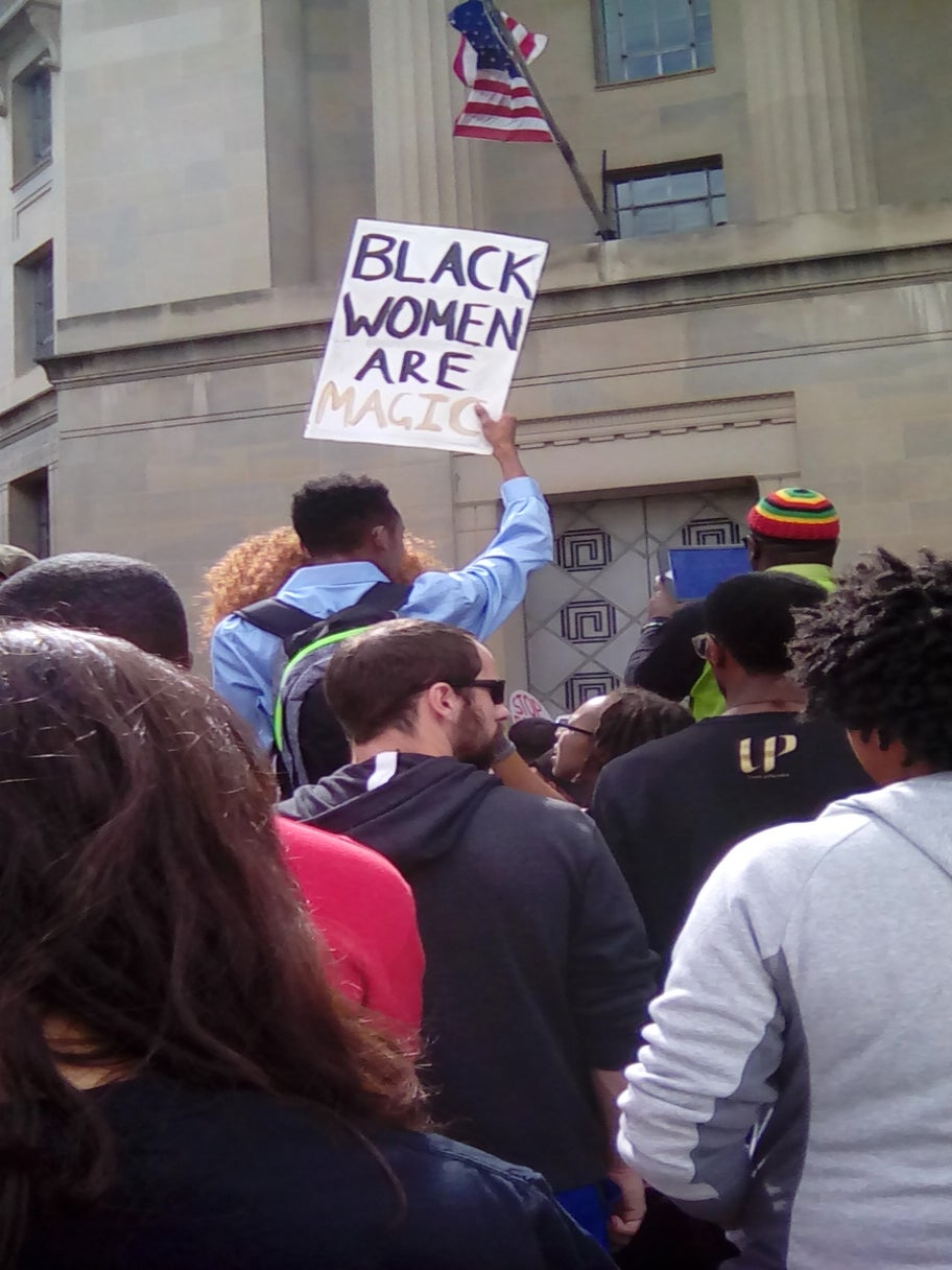 15 Powerful Images From The March For Black Women