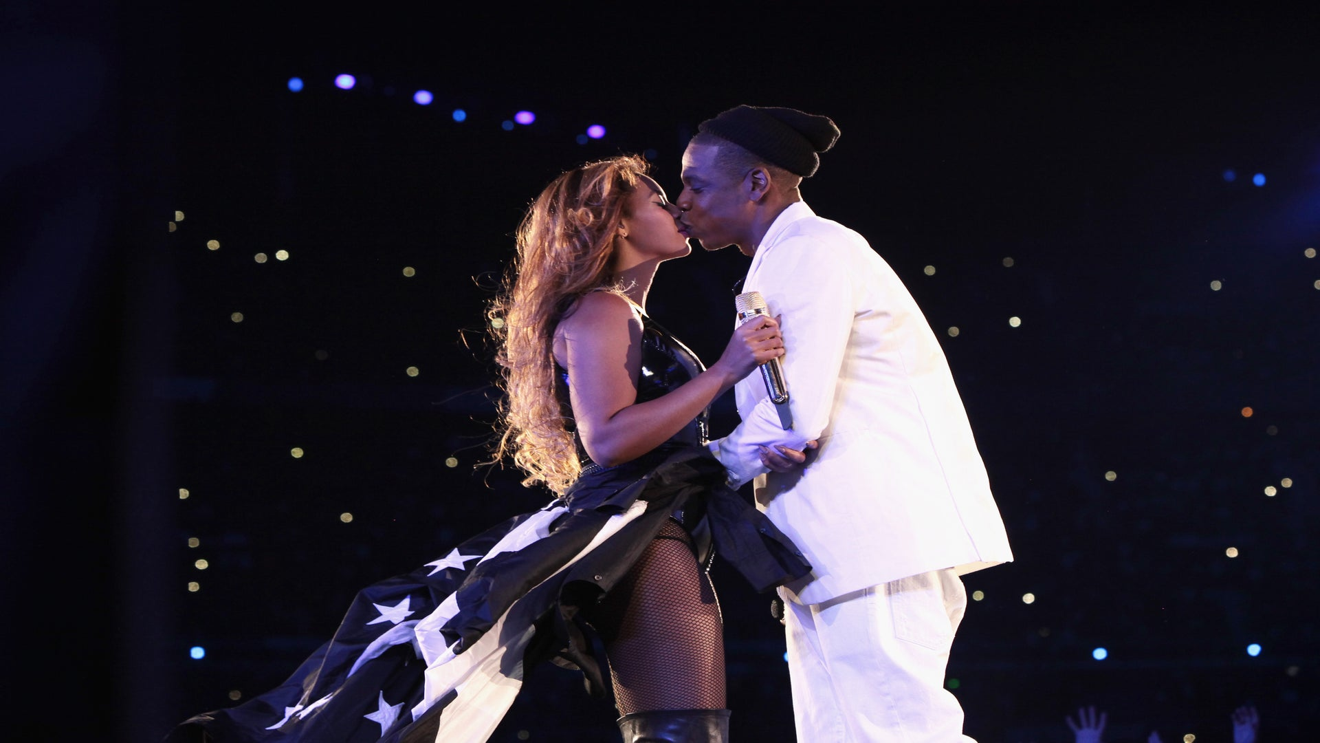 Beyoncé Supports JAY-Z at Tidal's Hurricane Benefit Concert In Brooklyn