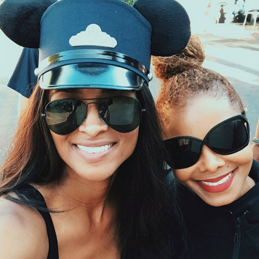Janet Jackson And Ciara Enjoy Play Date With Their Sons At Disneyland