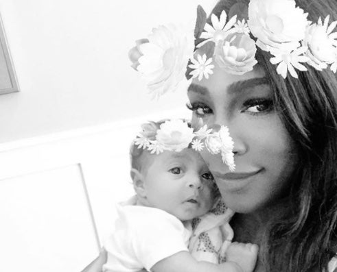 Serena Williams Cuddles with Daughter in Adorable New Selfie — and Asks About Push Presents