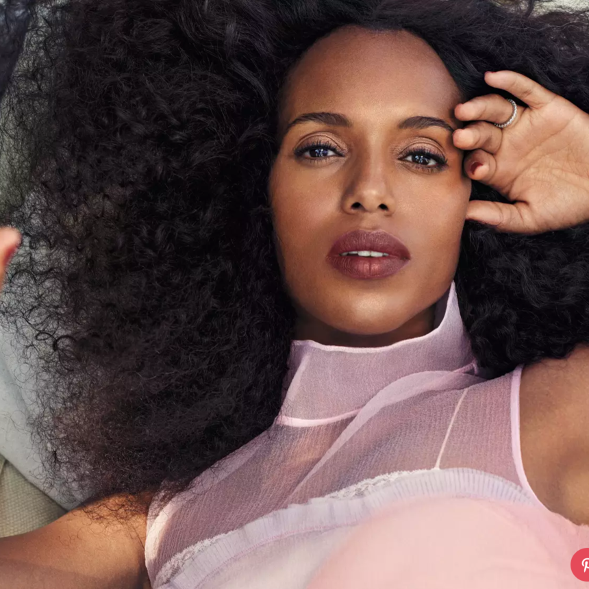 Kerry Washington Wears Her Hair Natural Now That's She's A Mom - Here's Why