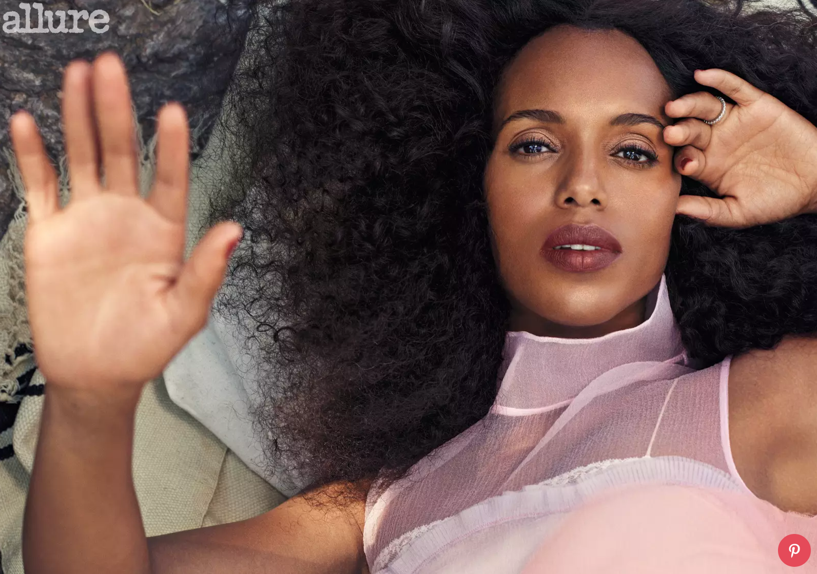 Kerry Washington Wears Her Hair Natural Now That's She's A Mom – Here's Why