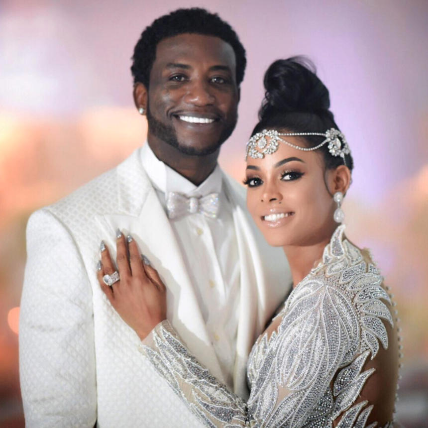 Gucci Mane And Keyshia Ka'oir Needed A Sword To Cut Into Their $75,000 Wedding Cake