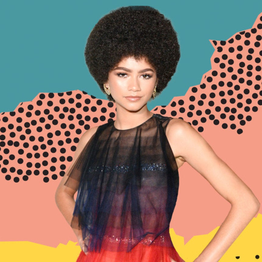 Zendaya Rocked an Afro at the InStyle Awards, and It's Giving Us Pam Grier Realness