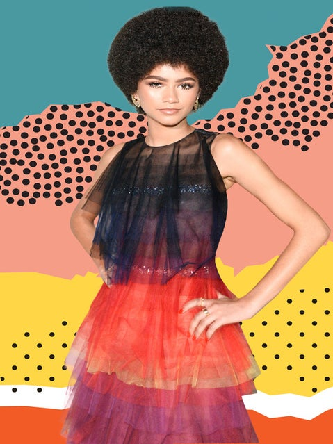 Zendaya Rocked an Afro at the InStyle Awards, and It'sGiving Us Pam Grier Realness