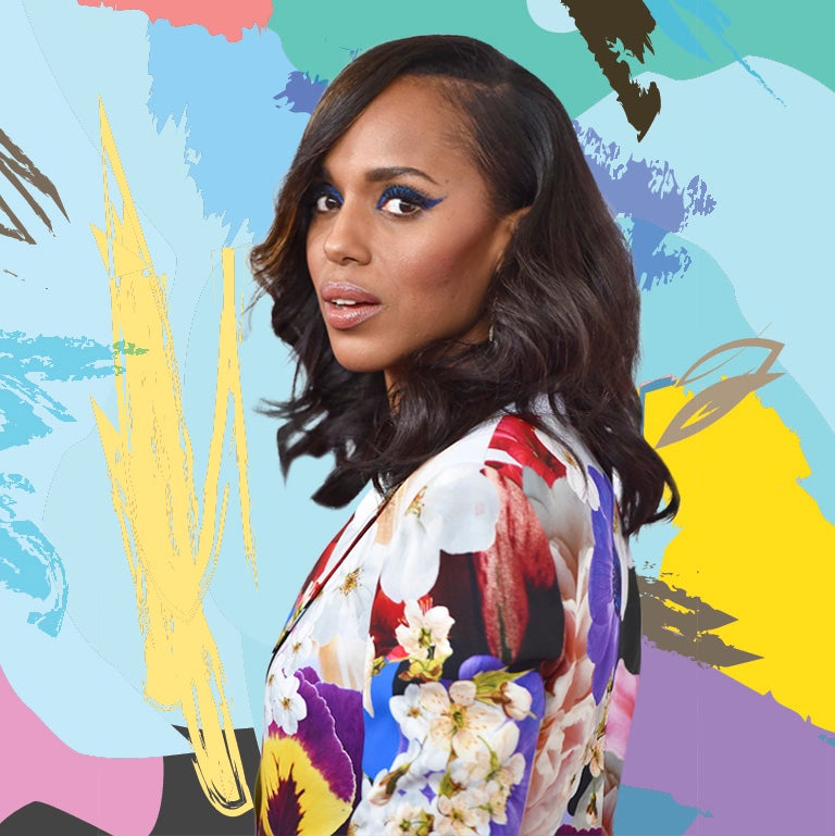 Kerry Washington Rocks a Glitter-Coated Cat Eye and Looks Amazing