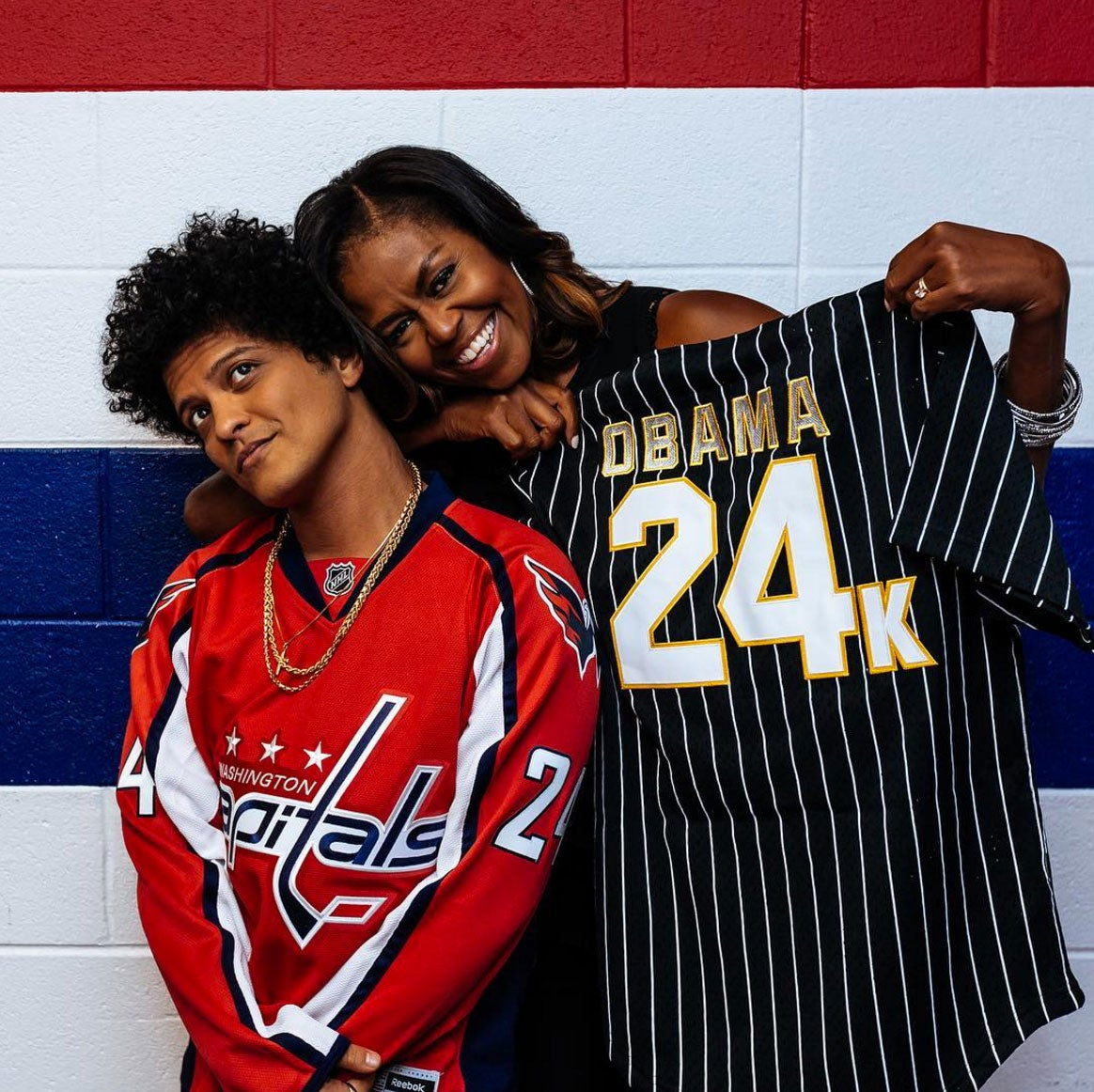 Michelle Obama Is Officially Part of Bruno Mars' 'Squad' After Attending His D.C. Concert