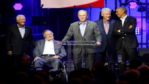 All 5 Former U.S. Presidents Team Up to Raise $31 Million for Hurricane Victims