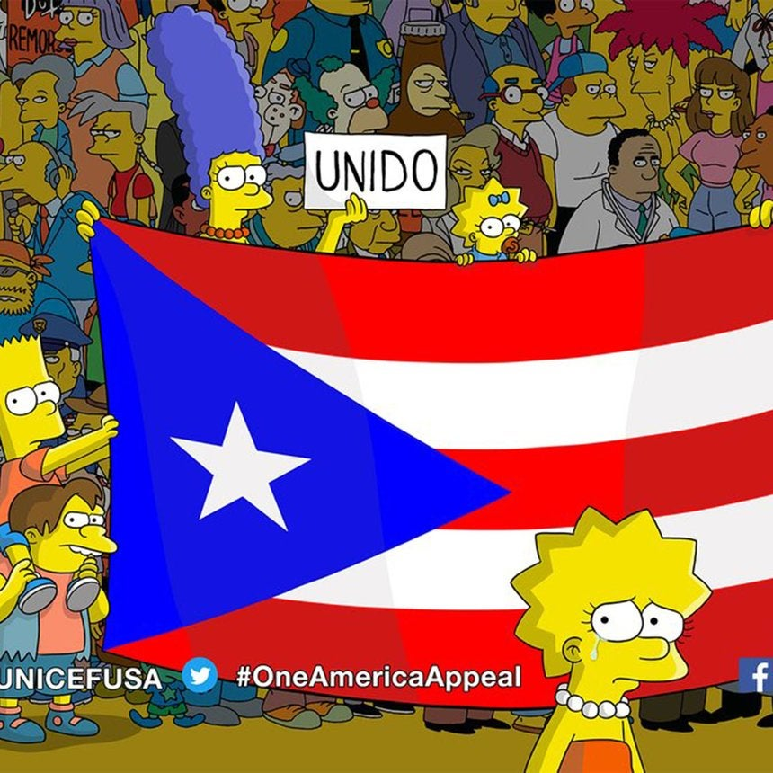 'The Simpsons' Premiere Ends With Messages Urging Additional Aid For Puerto Rico