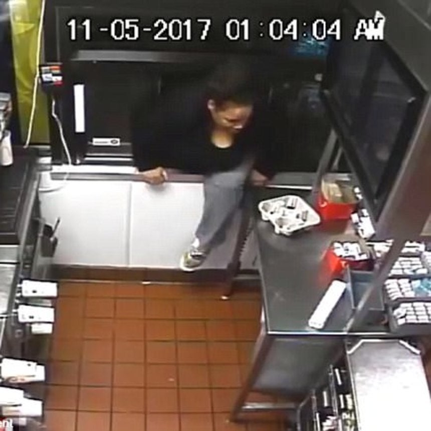 Woman Arrested After Climbing In A McDonald's Drive-Thru Window To Allegedly Take Cash And Food