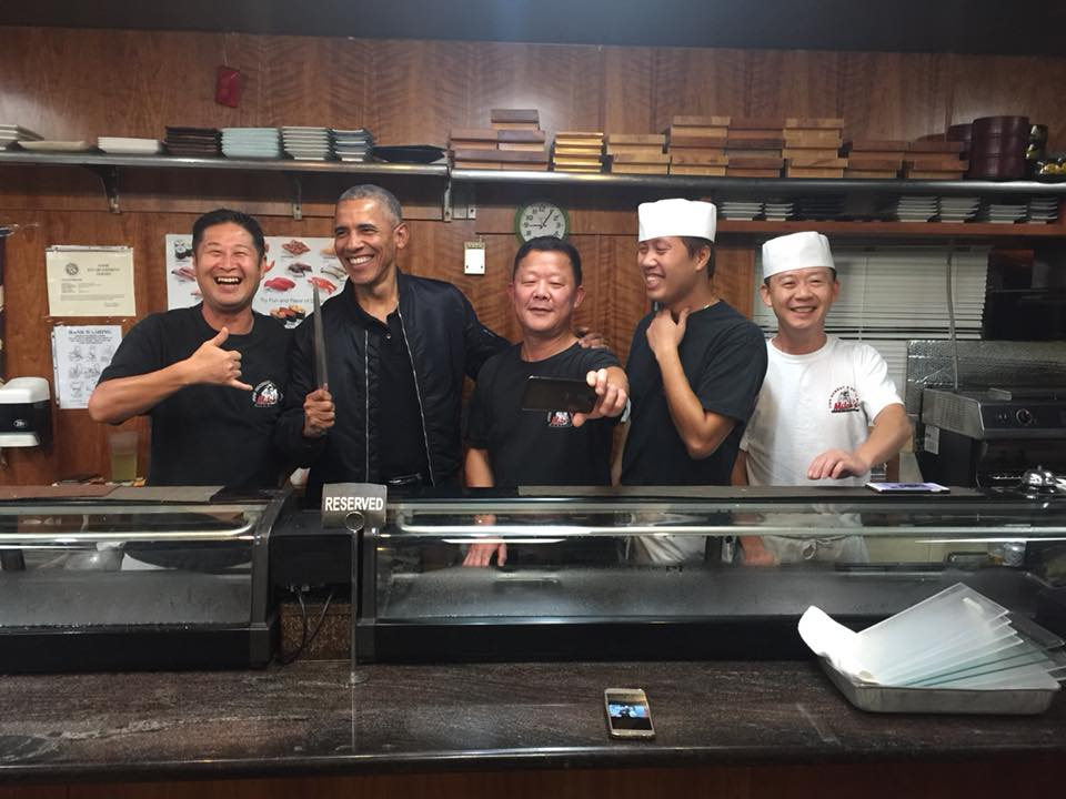 'Chef' Obama? The Former President Gets Behind The Sushi Bar While Dining In Hawaii