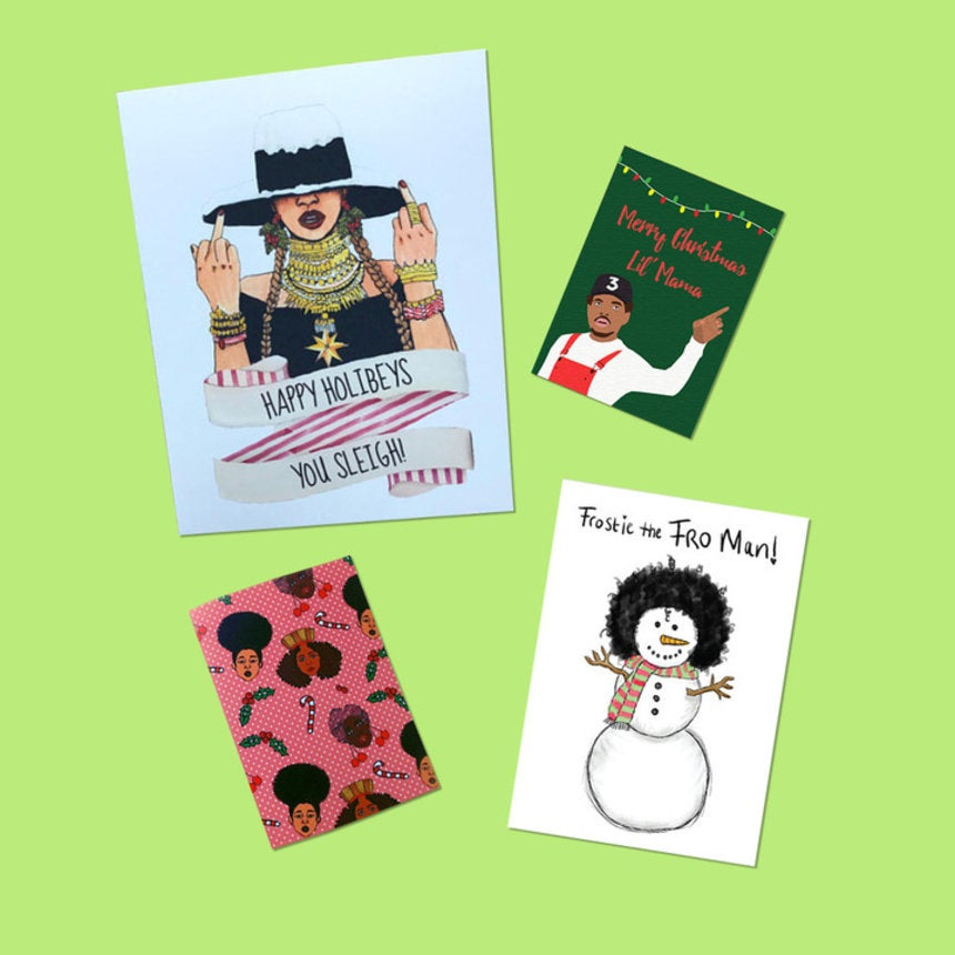 14 Black Christmas Cards On Etsy That Say Exactly What You Want Them To