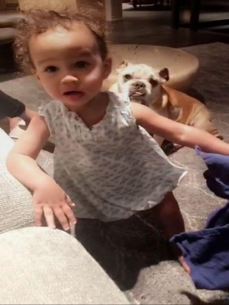 Start 'Em Young! Chrissy Teigen gets Daughter Luna to Help Clean Up a Spill