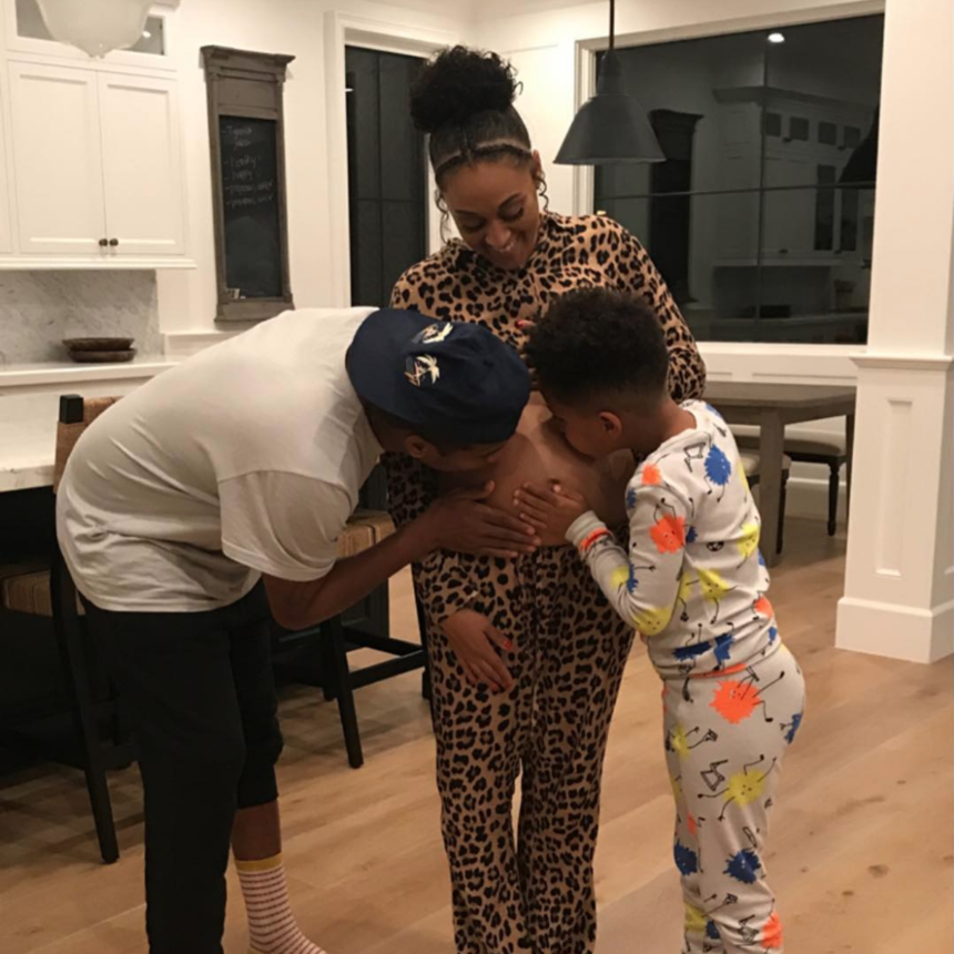 Pregnant Tia Mowry Shows Off Her Second-Trimester Baby Bump