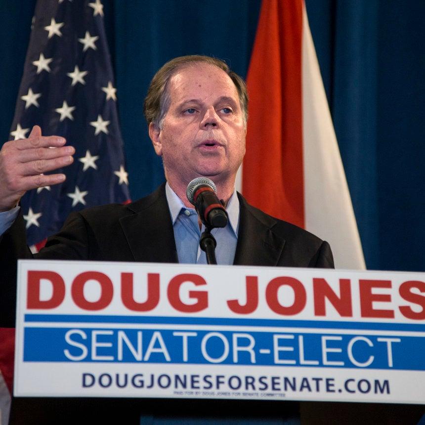 Doug Jones Believes Congress Should Disregard Trump Sexual Misconduct Allegations