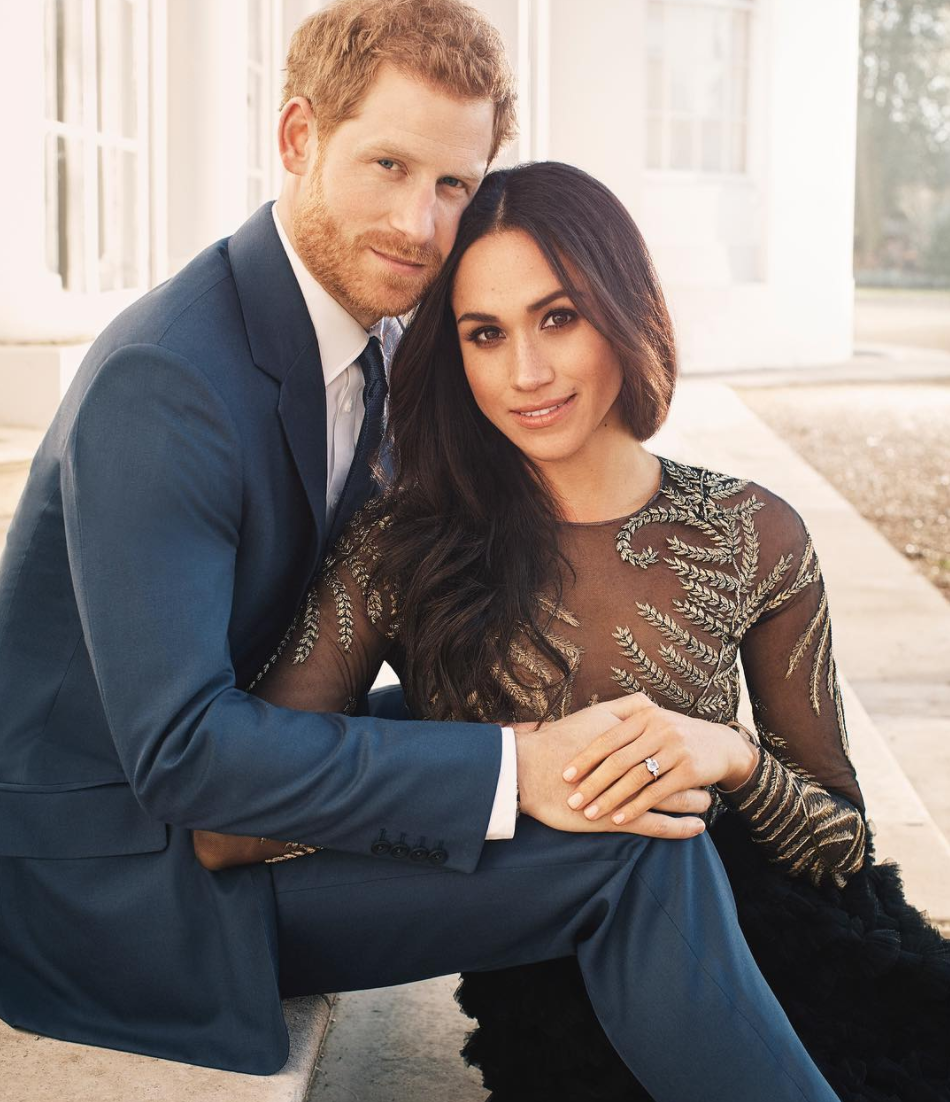 Meghan Markle Wore A $75,000 Couture Gown For Engagement Photo Obvi