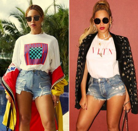 Christmas in Sizzling Shorts! Beyoncé Rocks Two Denim Looks in Latest Instagram Photo Shoots