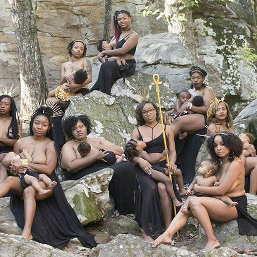 Moms Nurse In Photoshoot ToEncourage Black Women To Breastfeed
