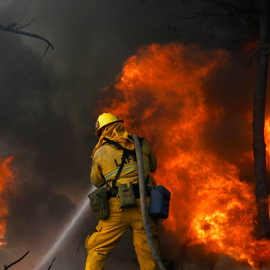 Wildfire Erupts In Bel-Air As Flames Consume Parts Of Southern California