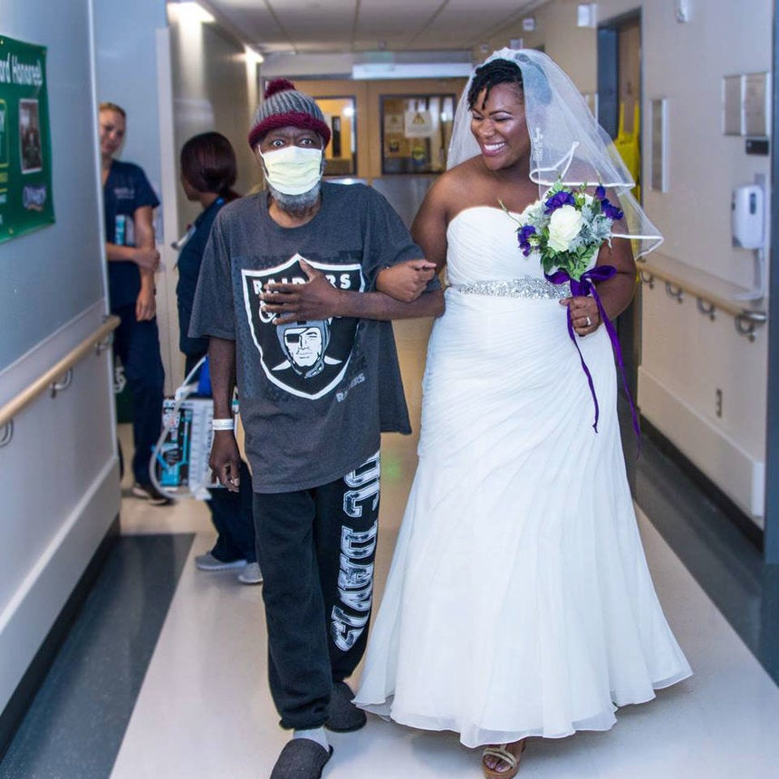Cancer Patient Who Walked Daughter Down The Aisle In Hospital Wedding Dies: 'I've Lost My Superman'