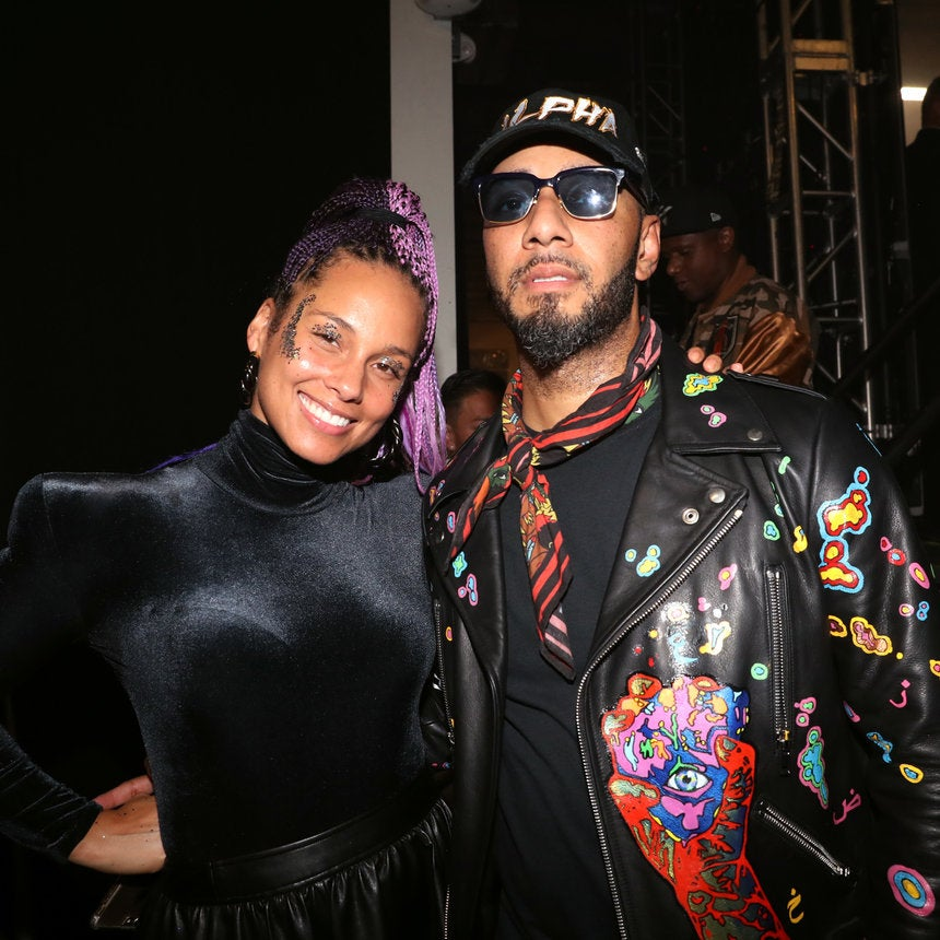 Alicia Keys And Swizz Beatz Bring Out His and Her Cars For A Little Family Vacation Fun