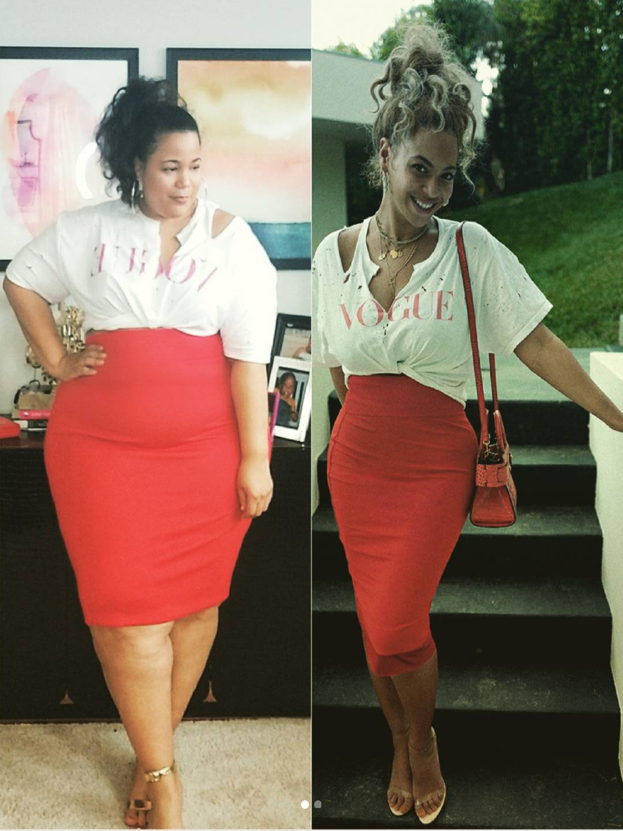 This Curvy Fashion Blogger Recreates A Beyoncé Look—And Absolutely Slays!