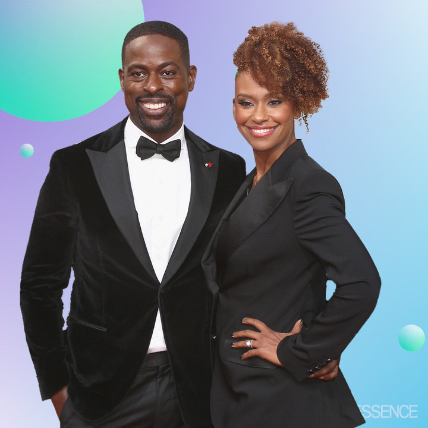 'This Is Us' Star Sterling K. Brown Wins The Golden Globes With Double Kiss From Both His Real-Life And TV Wife