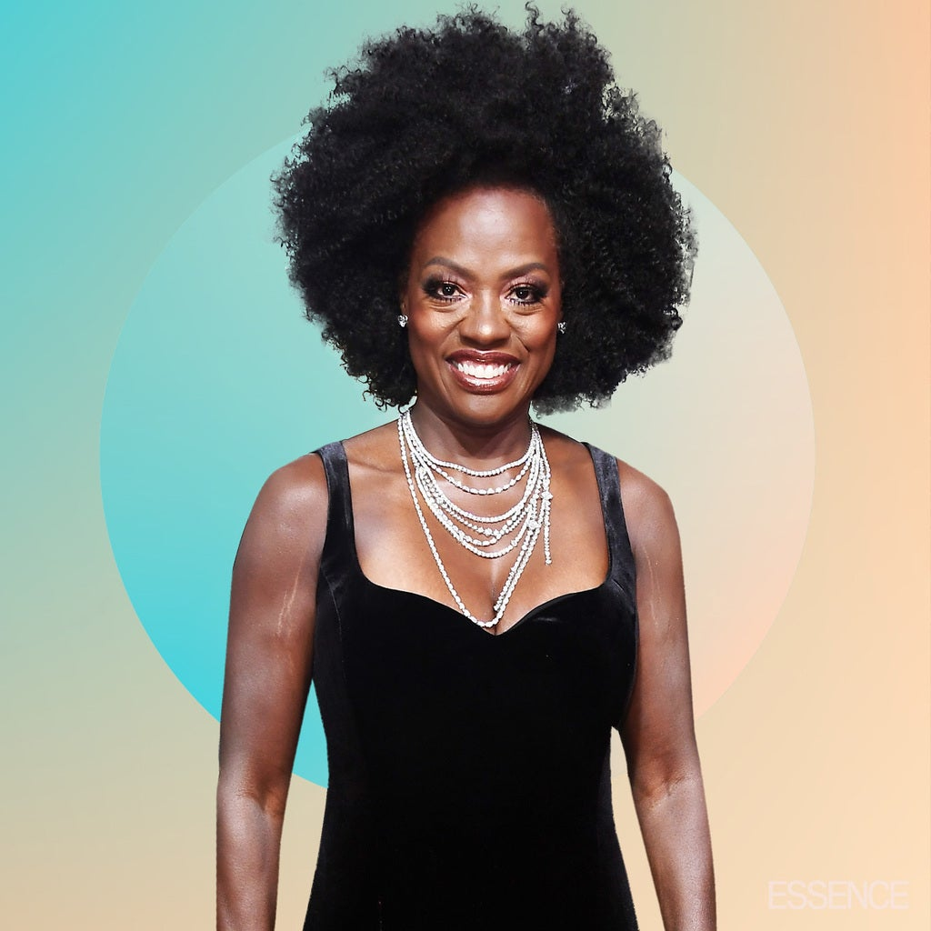 Viola Davis Afro Golden Globes 2018