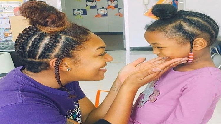 This Elementary School Teacher Styled Her Hair Like One Of Her Students To Teach Her a Beautiful Lesson