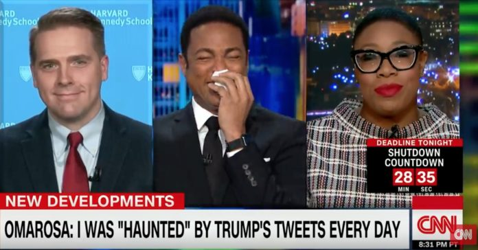 Don Lemon Can't Keep It Together After This Symone Sanders Comment About Omarosa