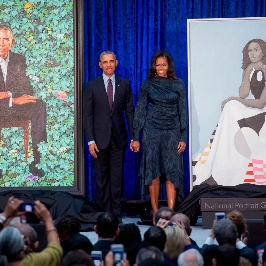 Barack Obama Had The Best Reaction When He Saw Michelle Obama's Official Portrait For The First Time