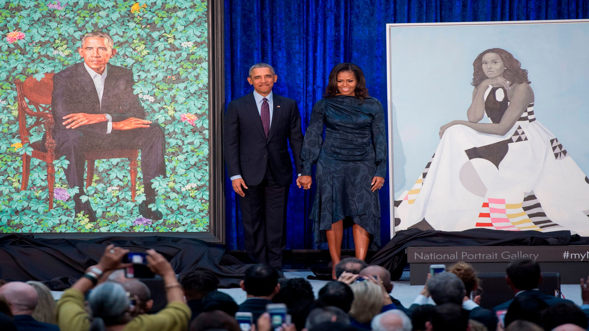 Barack And Michelle Obama Official Portraits