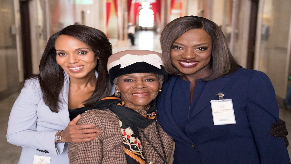 FIRST LOOK: Kerry Washington, Viola Davis, And Cicely Tyson Gear Up For 'Scandal'/'HTGAWM' Crossover