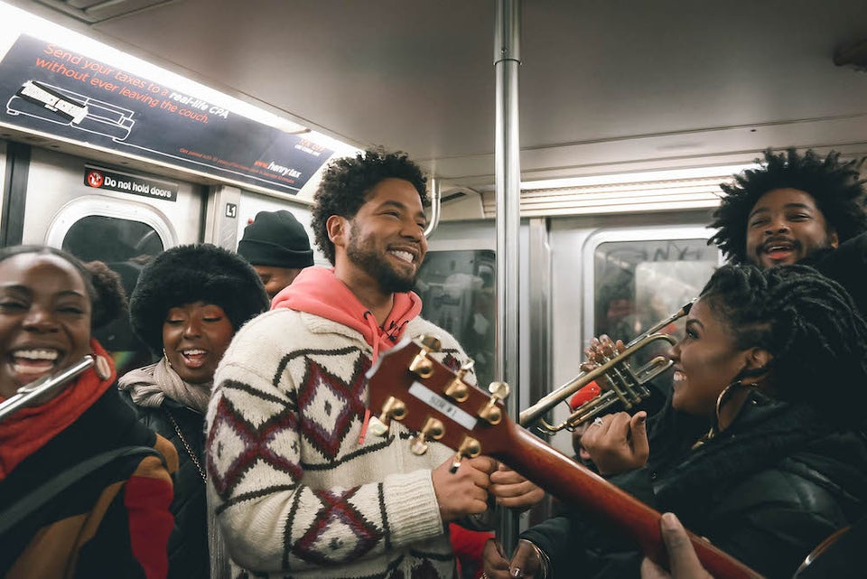 Jussie Smollett SurprisedNYC Subway Riders With An Awesome Pop-Up Performance