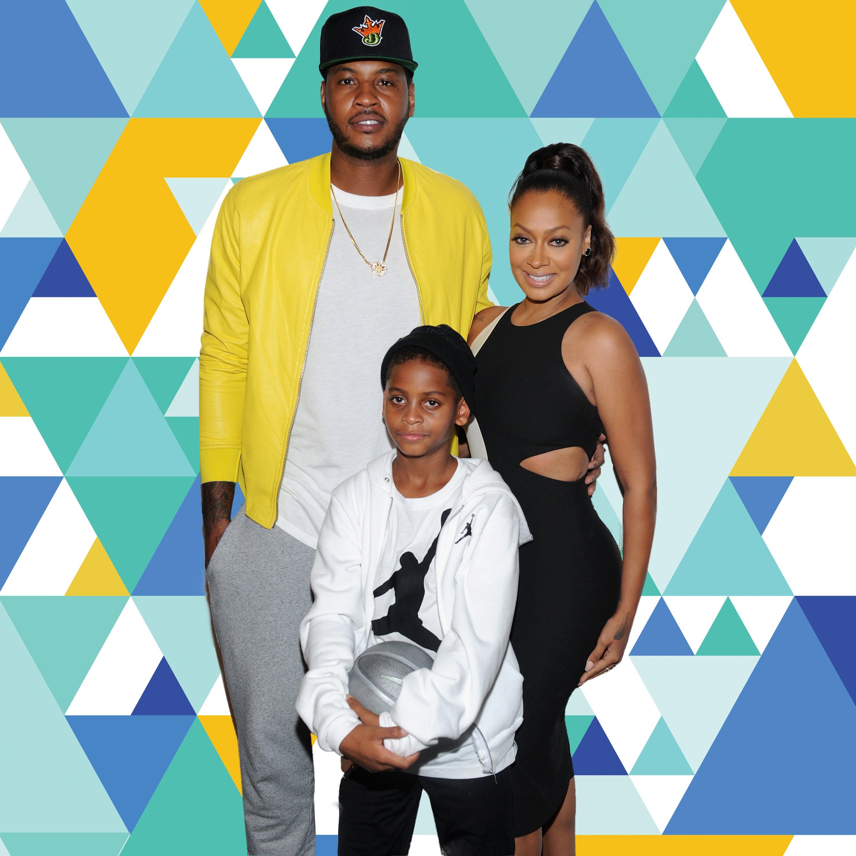 best service e214f 1379a La La Gifts Her Son Kiyan Jerseys of Dad Carmelo Anthony's ...