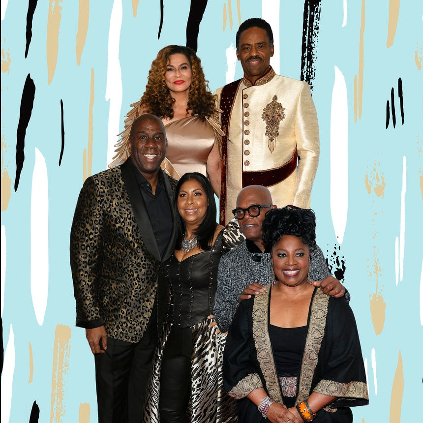 Tina Knowles-Lawson, Cookie Johnson, LaTanya Richardson And Their Husbands Shut Down The Red Carpet, Wakanda Style