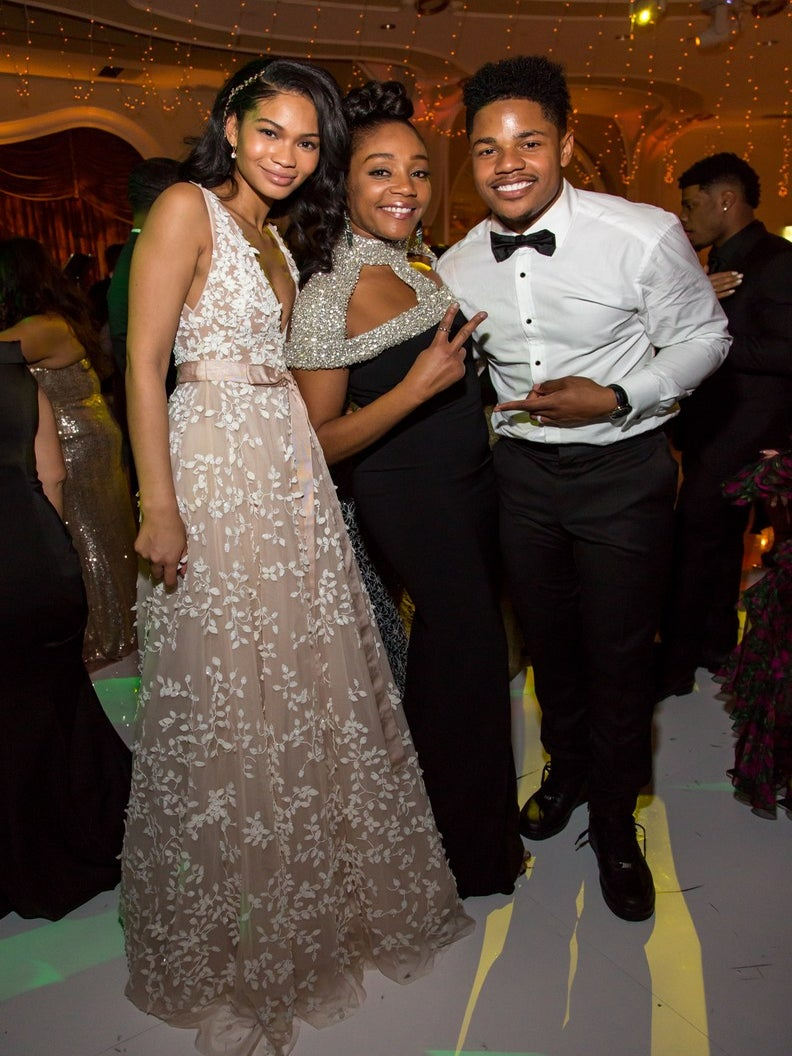 Aww! Tiffany Haddish Gave An Emotional Toast At Chanel Iman and Sterling Shepard's Wedding