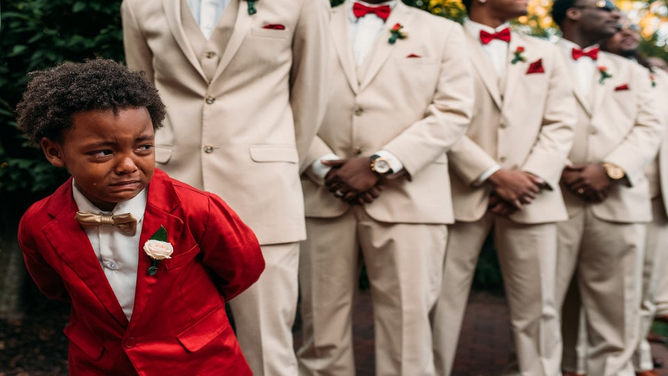 This Little Boy Was Moved To Tears Watching His Mom Walk Down The Aisle To Marry His Dad and We're So Touched