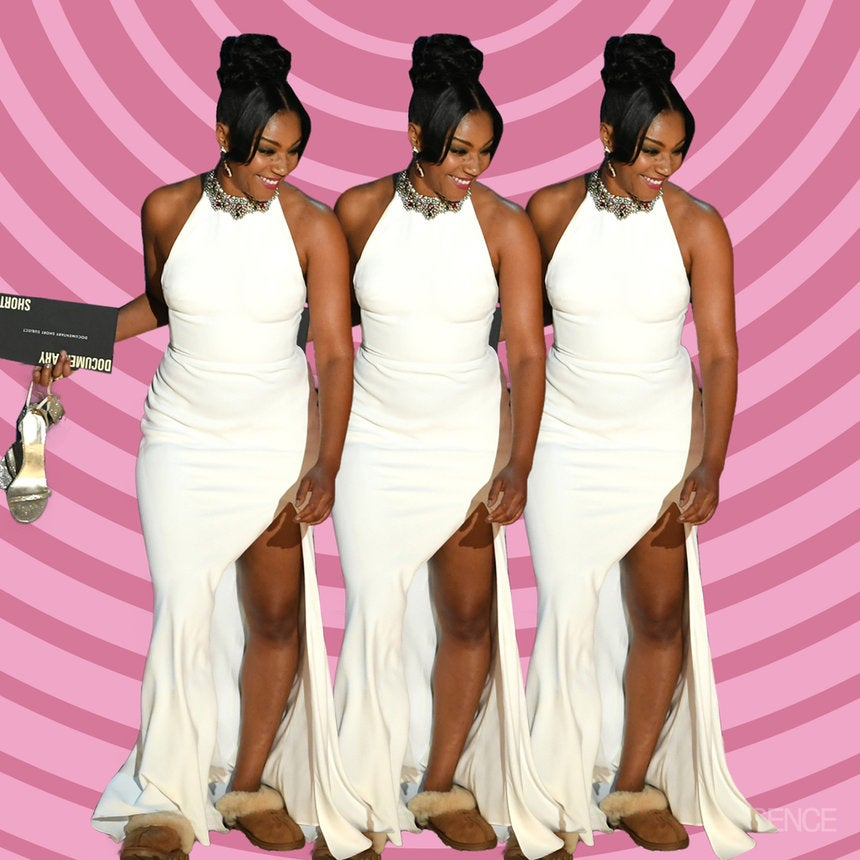53f7866af3fd Tiffany Haddish Wears Favorite White Dress For The Third Time On Stage At  The Oscars