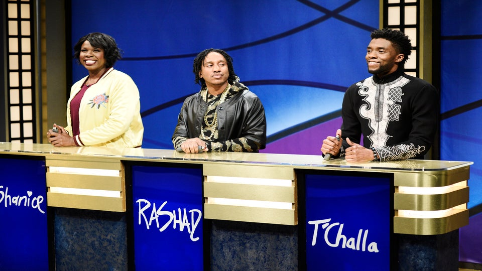 T'Challa Hilariously Struggles With 'Black Jeopardy' As Chadwick Boseman Makes SNL Debut