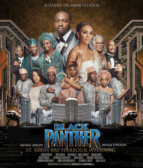 This Bride And Groom Loved 'Black Panther' So Much It Inspired Their Epic Wedding Poster